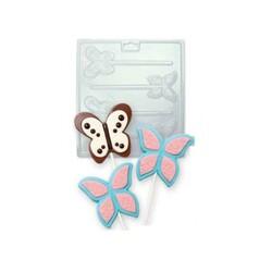 Moule chocolat sucettes papillons