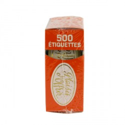 Etiquette adhésive Plaisir d'Offrir or / blanc x500
