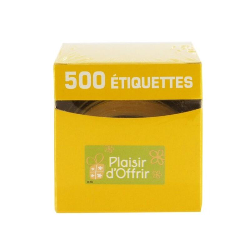 Etiquette adhésive Plaisir d'Offrir vert / blanc x500