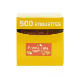 Etiquette adhésive Bonne Fête Maman x500