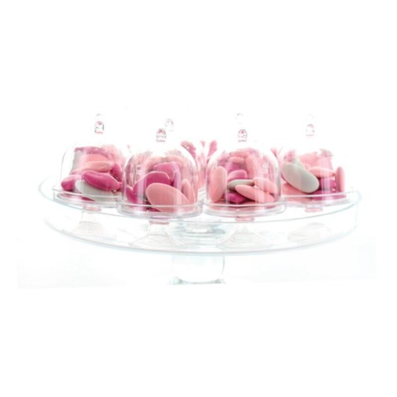 Boîte à dragées mini cloche transparent x3