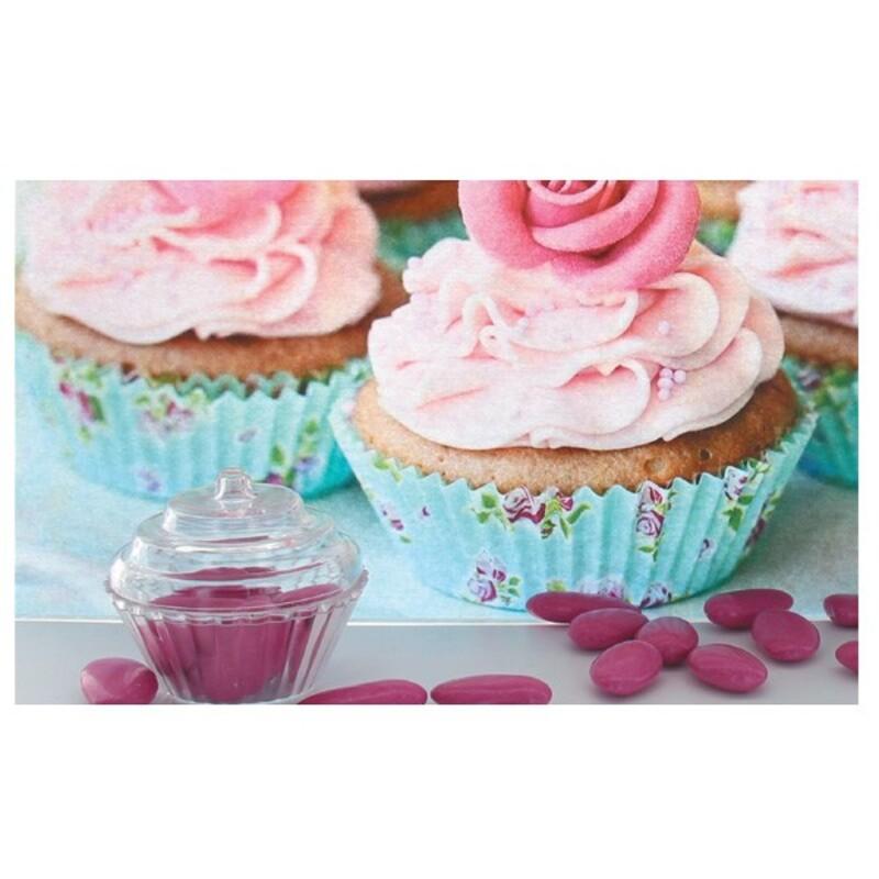 Boîte à dragées cupcake transparente x3