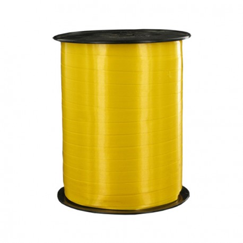 Bolduc satiné jaune Pâques 5 mm (500 m)