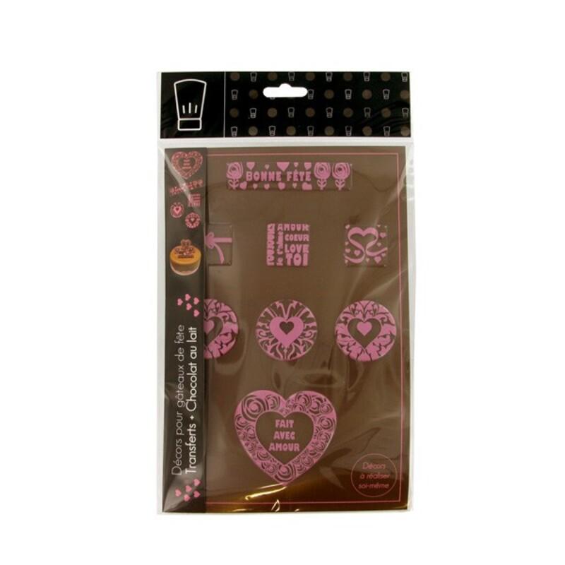 Kit transfert et chocolat Love