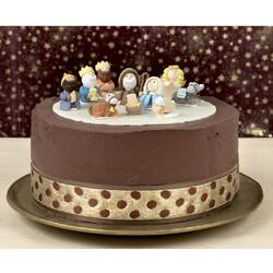 Contour de gâteau individuel à pois 45 mm (10 m)