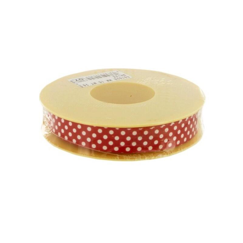 Contour cake drum rouge à pois 15 mm (25 m)