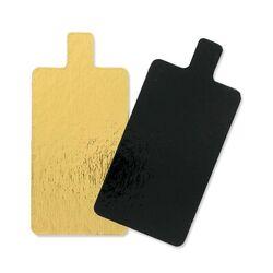 Rectangle carton avec languette Or/Noir (x200)