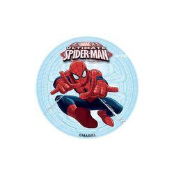 Disque azyme pour cupcakes Spiderman