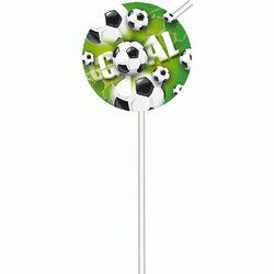 Pailles en plastique Goal (x6)
