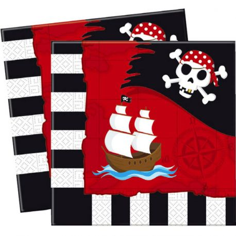 20 Serviettes en papier Pirates