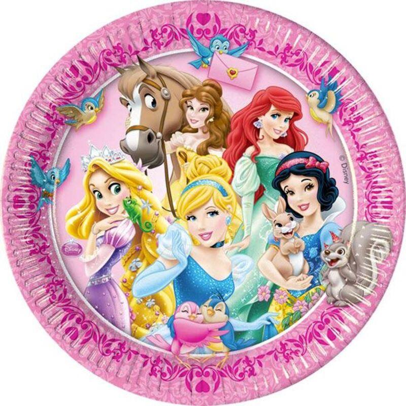 Assiettes en carton Princesses Disney (x8)