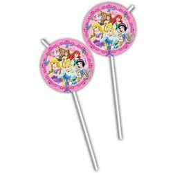 Pailles en plastique Princesses Disney (x6)