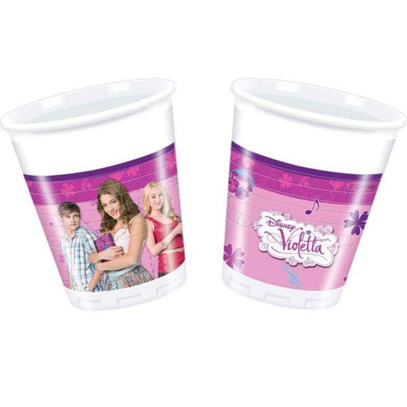 Gobelets en plastique Violetta (x8)
