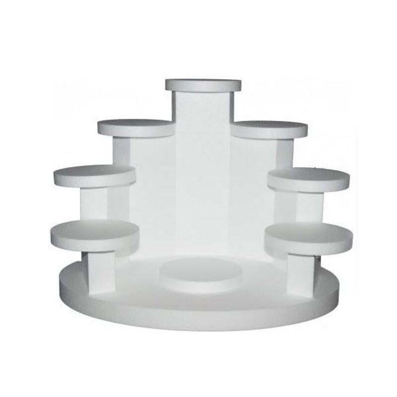 Présentoir polystyrène cascadine