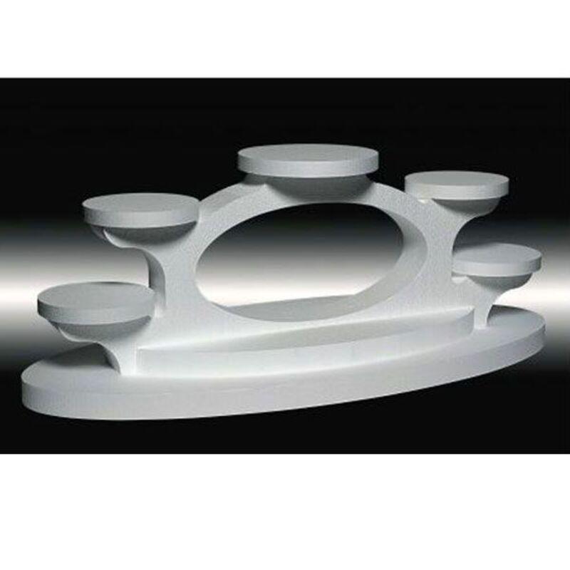 Présentoir entremets polystyrène ovaline