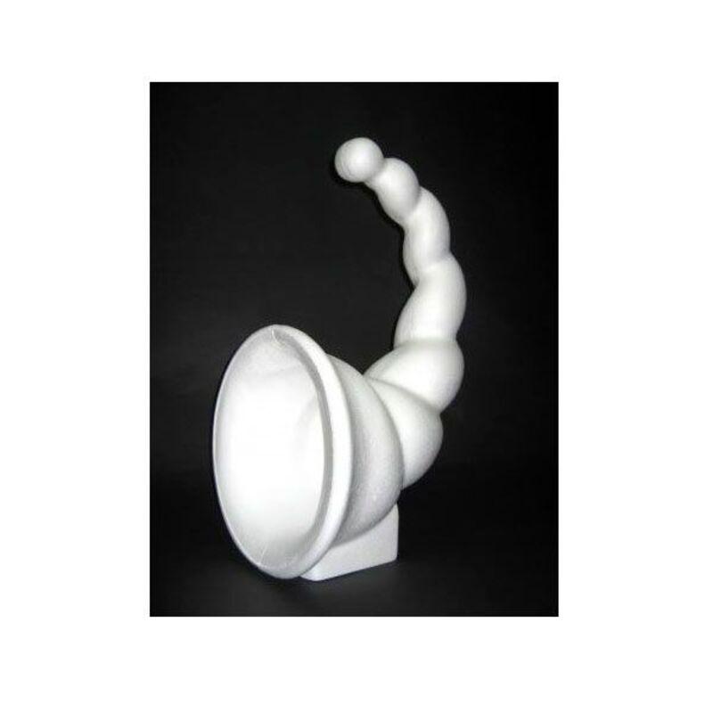 Présentoir polystyrène corne d'abondance