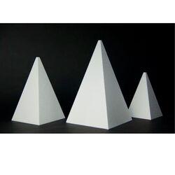 Présentoir polystyrène pyramide 4 faces