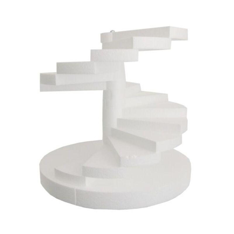 Présentoir polystyrène escalier colimaçon