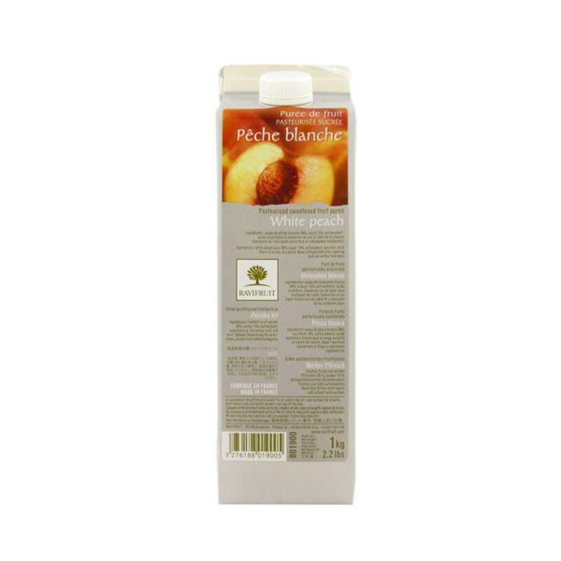 Purée de pêche blanche Ravifruit 1 kg