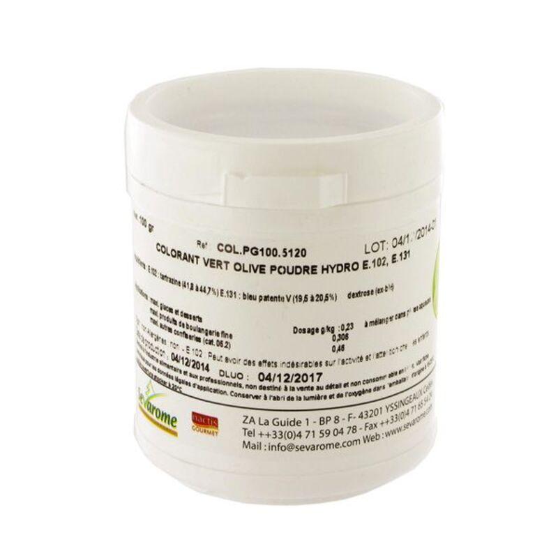 Colorant poudre alimentaire Vert Olive 100 g