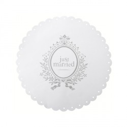 Set de table blanc Just Married x6