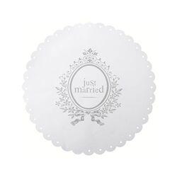 Set de table blanc Just Married x6