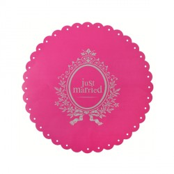 Set de table fuchsia Just Married x6