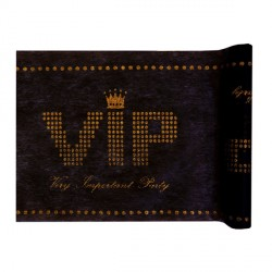 Chemin de table noir VIP