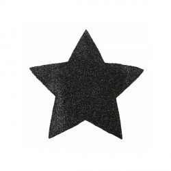 Mini set de table étoile pailetée noir (x2)