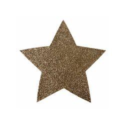 Mini set de table étoile pailletée or (x2)