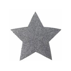 Set de table étoile pailletée argent (x2)