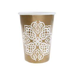 Gobelet en carton oriental or (x10)