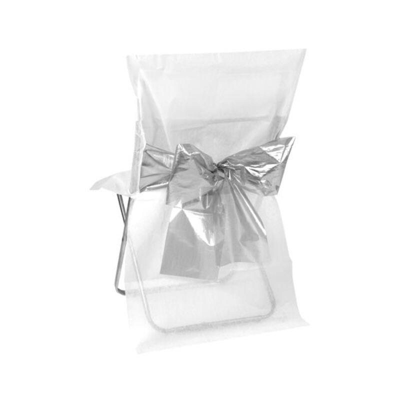housse de chaise blanche noeud m tallis x4 deco mariage cerfdellier com. Black Bedroom Furniture Sets. Home Design Ideas