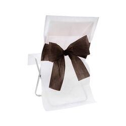 Housse de chaise blanche noeud noir (x10)