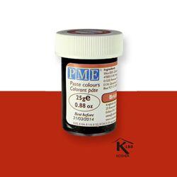 Colorant pâte rouge brique PME 25 g