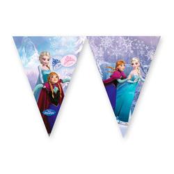 Banderole fanions Reine des Neiges sur glace