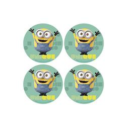 Mini disques cupcakes Minions (x12)