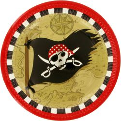 Assiettes en carton Pirates (x8)