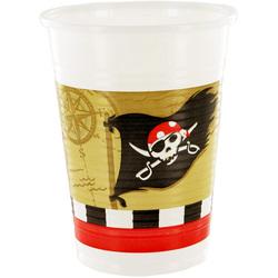 Gobelets en plastique Pirates (x8)