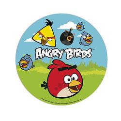 Disque en sucre Angry Birds 16 cm
