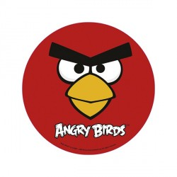 Disque azyme Angry Birds rouge 20 cm