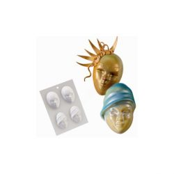 Moule chocolat masques de carnaval assortis