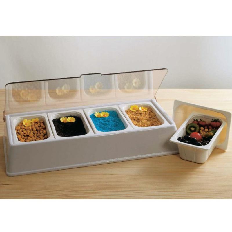 bac de stock condiments 4 compartiments cerf dellier. Black Bedroom Furniture Sets. Home Design Ideas