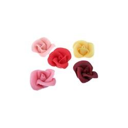 Roses pâte d'amande assorties 4 cm (x35)
