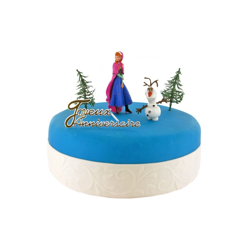 decoration gateau olaf