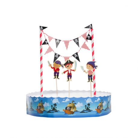 decoration gateau pirate