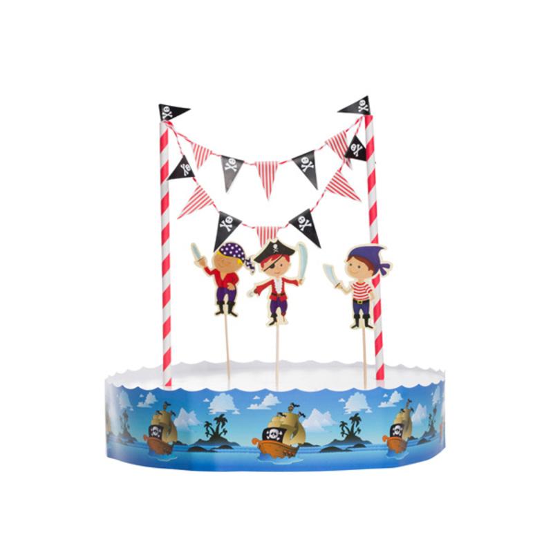 Kit décor gâteau Pirate
