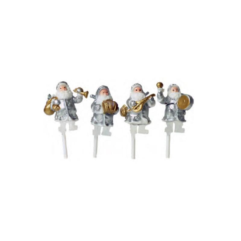 Père Noël musicien assortis (x72)