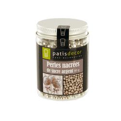 Perles sucre nacrées argent Patisdécor