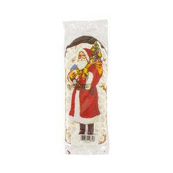 Père Noël en pain d'épices glacé fond chocolat 24 cm